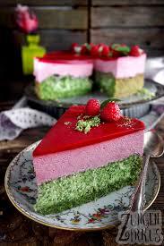 grüne himbeer sahne torte zungenzirkus