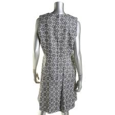 tory burch 8482 womens textured burlap sleeveless wear to work