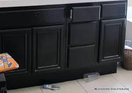 Painted Oak Cabinet Even Painting Oak Cabinets Grain Filler