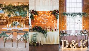 Rustic Sweetheart Table For Indoor Wedding Reception
