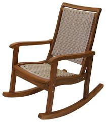 Salinas Resin Wicker And Eucalyptus Rocker Chair, Ash