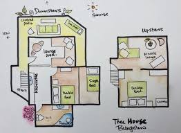 104 Tree House Floor Plan Bungalow Sarinbuana Bali Eco Lodge