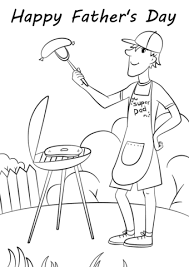 Click To See Printable Version Of Fathers Day Grill Coloring Page