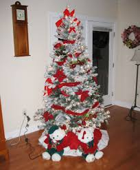 Flocked Artificial Christmas Trees Sale by Interior Copper Christmas Tree 7ft Pre Lit Frosted Christmas