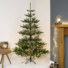 Balsam Christmas Trees Uk by 6ft Pre Lit Green Real Imperial Spruce Artificial Christmas Tree