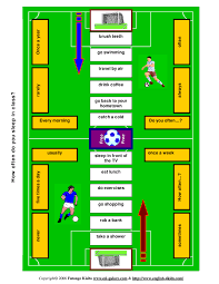 Present Simple Football Like Board Game
