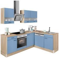 optifit winkelküche elga ohne e geräte premium küche mit soft funktion vollauszug höhenverstellbaren füßen metallgriffen und 38 mm