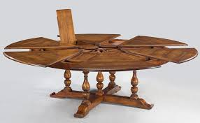Dining Tables Large Rustic Round Table Farmhouse Extra Solid Walnut Expandable