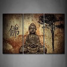 wall buddha bilder leinwand 3 teilig bild religion wandbilder wohnzimmer moderne für schlafzimmer dekoration wohnung home deko kunstdruck