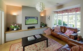 Living Room In A Remodelled And Extended Semi Detached Home
