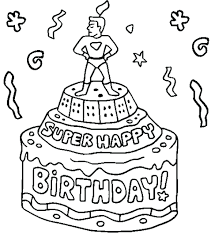 Happy Birthday Coloring Pages For Girl Free Printable Dad Super Page Card