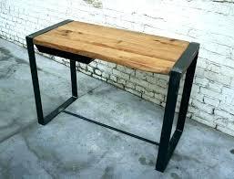 table ronde bureau table bois et metal table basse industrielle matal chane table ronde