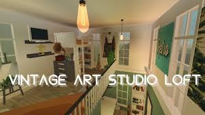 100 Art Studio Loft BLOXBURG Vintage Speedbuild