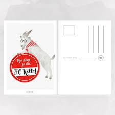 Designfeder Postkarte 1 FC Köln Hennes Selekktcom