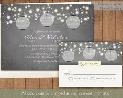 Paper Lantern Wedding Invitation