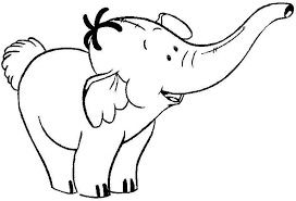 Cute Baby Elephant Popular Coloring Pages