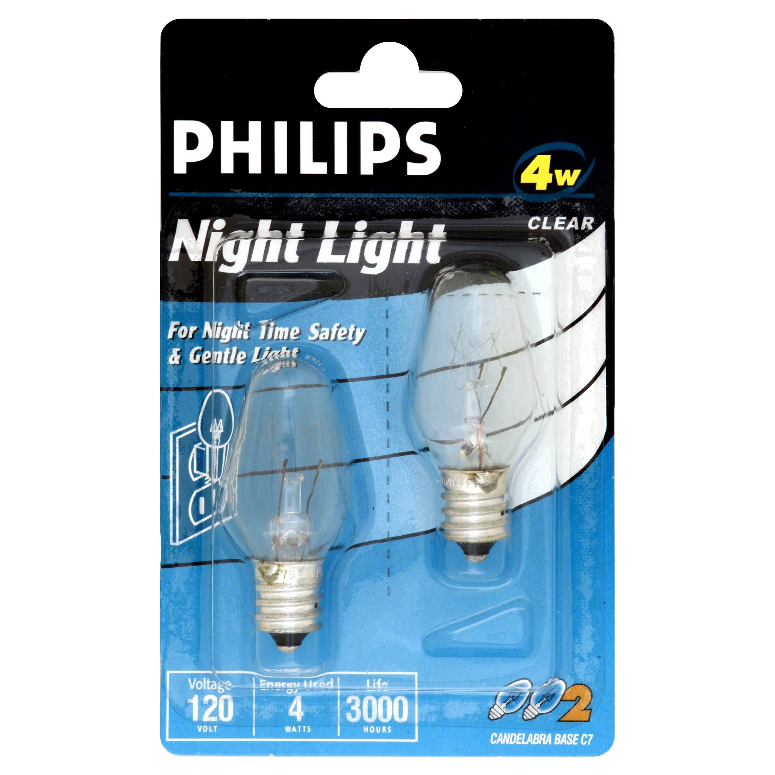 Phillips 4 Watt Night Light Bulbs - Clear
