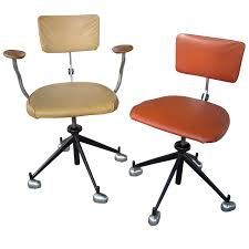 Jørgen Rasmussen Two Industrial Modern Kevi Office Or Desk Chairs,  Adjustable