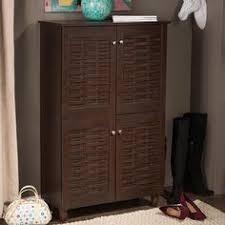Baxton Studio Warren Shoe Cabinet by 3 Door Espresso Wood Cabinet By I Love Living Espresso Woods
