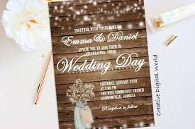 Country Wedding Invitation Templates With Rustic Free Download Together