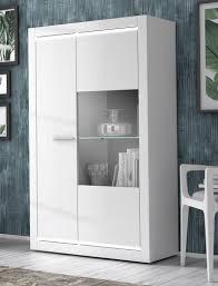 vitrine livorno 3 hochglanz weiß 98x160x42 cm led
