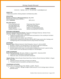 Resume For Science Majors Biology Research Assistant Sample With Antibiotic