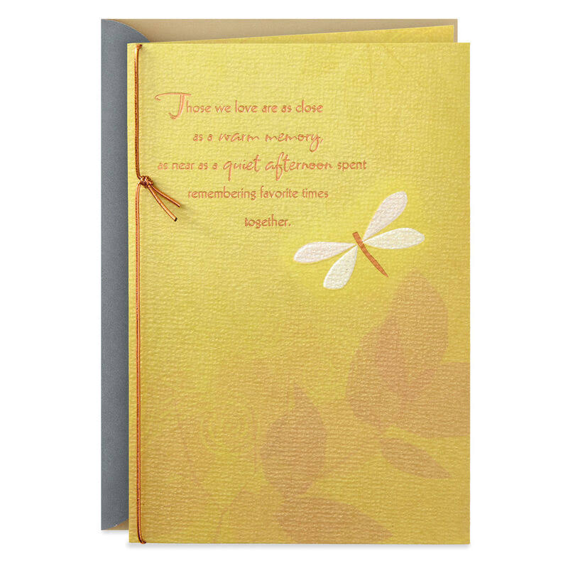 Memories of Love and Laughter Sympathy Card