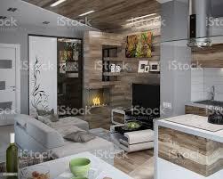 offen gestaltete küche und wohnzimmer 3d render stockfoto und mehr bilder arrangieren