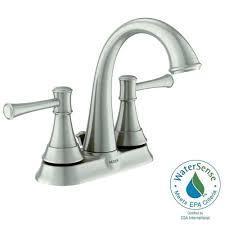 Home Depot Moen Bathroom Faucet Cartridge by Moen Ashville 4 In Centerset 2 Handle Bathroom Faucet With