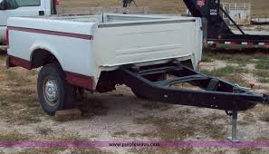 Shop built pickup bed trailer Item 8746