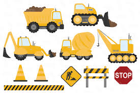 Sunshine Vector Construction Trucks Clipart By Amanda Ilkov ...