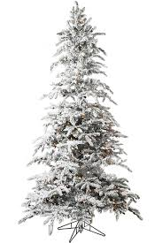 75 Flocked Balsam Pine Easy Pole Prelit Artificial Christmas Tree