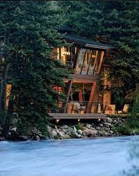 104 River Side House Beautiful Colorado Twilight Architecture Exterior Design