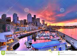 100 Beautiful Seattle Pictures Skyline And Waterfront In Sunrise Stock Photo Image Of