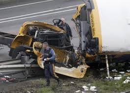 School Bus Ripped Apart In Dump Truck Crash, Killing 2 | The ... Bigdaddy Dump Truck Lorry With Tipper Cstruction Work Vehicle Car Yellow For Stock Photo Picture Zone In Progress Gifts Grey Building Kennecotts Monster Dump Trucks One Piece At A Time Kslcom Ford Trucks New Jersey Sale Used On Buyllsearch Excavator Loading Sand Into A The Quarry Tri Axle Auto Info Services Loren Pratt Trucking Large Image Free Trial Bigstock Update Driver Seriously Injured In Crash With Truck Dalton Of Moorings Parking Boats
