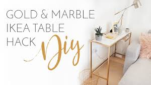 gold marble ikea tables hack diy on style