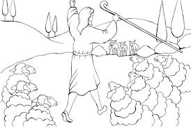 Jesus Good Shepherd Coloring Colouring