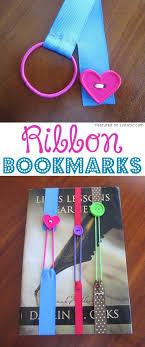 DIY Ribbon Bookmarks Hairbands And Buttons A Ton