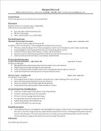 Criminal Justice Resume Examples Objective Of Resumes Skills And