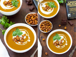 Spicy Pumpkin Butternut Squash Soup by Chocolate Roasted Butternut Squash Soup With Roasted Chickpeas