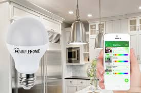 simple home皰 xlb7 1001 wht dimmable smart white wi fi led bulb