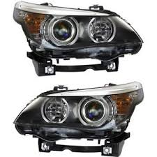 headlight set for 2008 2010 bmw 528i 535i driver and passenger