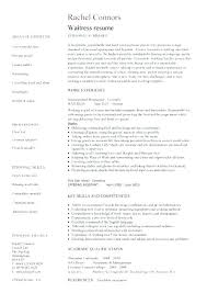 Waitress Resume Template Word Pic 1 Sample No Experience