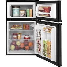 GE 3 1 cu ft 2 Door pact Refrigerator Black Walmart