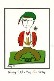 Yoga Christmas Card Showing The Single Result Rennie Wishing You A Very Zen Holiday