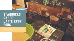 Pumpkin Spice Latte K Cups Gevalia by Starbucks Caffe Latte Kcup Pods Review Youtube