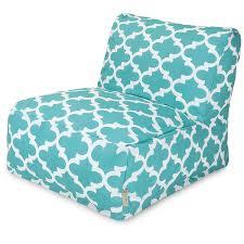 Amazon Majestic Home Goods Trellis Bean Bag Chair Lounger Teal Garden Outdoor