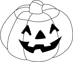 Halloween pumpkin clipart black and white 4