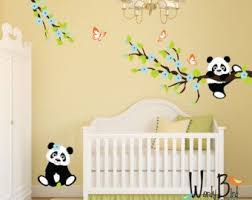 stickers panda chambre bébé panda wall decals tree wall decals with cherry blossom branches and