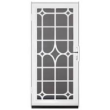 Decorative Security Bars For Windows And Doors by Unique Home Designs 36 In X 80 In Lexington White Surface Mount